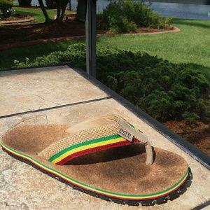 BOB MARLEY Sandals Flip Flop  Shoe Size 7